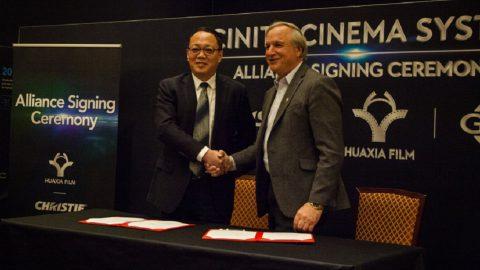 Huaxia Film va tras el liderazgo en la industria del cine asociándose con Christie y GDC